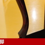 中古ピアノ アポロ(APOLLO A123CM) 総アグラフ搭載の木目・猫脚ピアノ