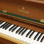 中古ピアノ スタインウェイ&サンズ(STEINWAY&SONS Model.F) 高さ104cmのコンパクトモデル