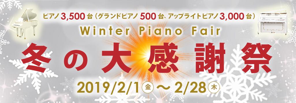 冬の大感謝祭 Winter Piano Fair