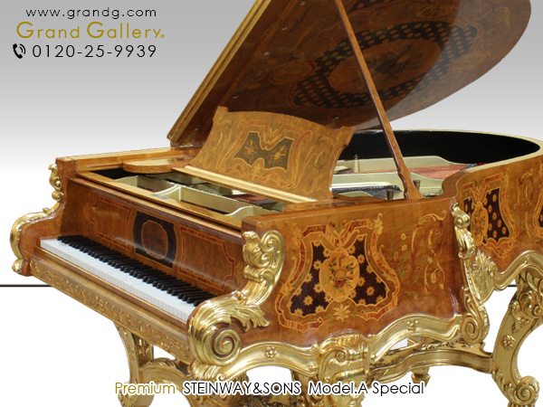 中古ピアノ STEINWAY&SONS(スタインウェイ&サンズ)Model.A Special 世界に1台だけの豪華絢爛なアートケースピアノ