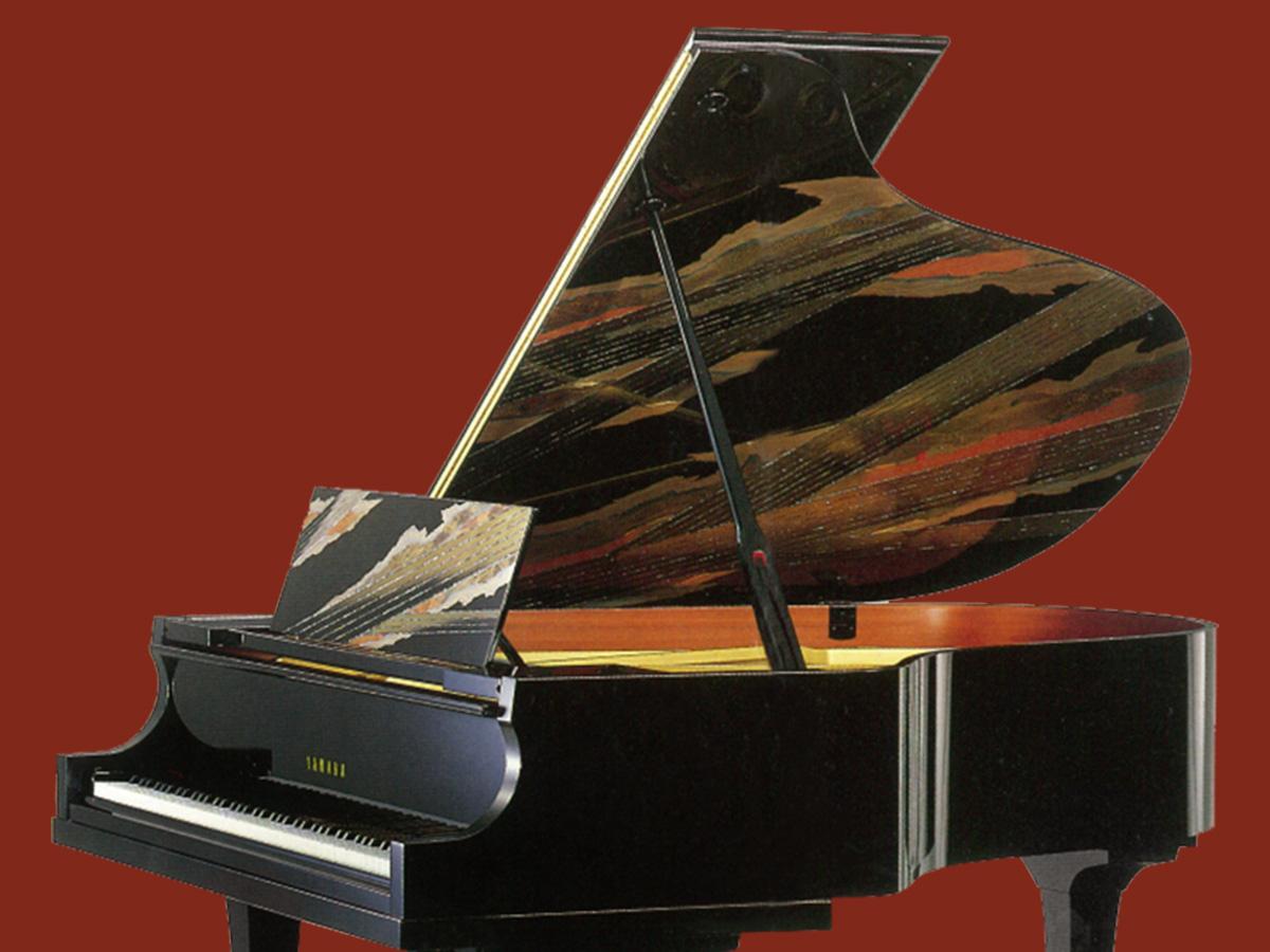 特選中古ピアノ YAMAHA(ヤマハ)センチュリーカスタム トラディショナル「遊想」(100周年記念) 京工芸の巨匠、服部俊昇氏の夢の芸術作品