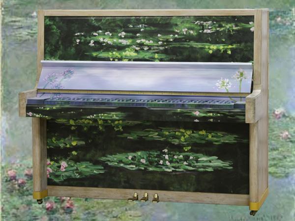 Art Piano(アートピアノ) 概念を超えた芸術性を持つ「アートケース」クロード・モネ(Claude Monet) 睡蓮(すいれん) Les Nympheas